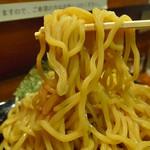 二代目 ユタカ - 某所で打たれるYUTAKA専用極太麺(2016年9月23日)