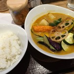 スープカレー 米KURA - 「期間限定!夏の薫りのチキンカレー」1,150円