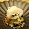 """白 - 料理写真:先付け~""""重陽菊"""" 瑠璃茄子"""