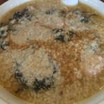 滋魂 - 岩のり中華 麺大盛り 鬼脂