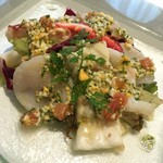 56638894 - 前菜:魚介のサラダ仕立て ラヴィゴットソース