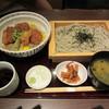 越州 - 料理写真:越州へぎ蕎麦とタレカツ丼膳 1050円