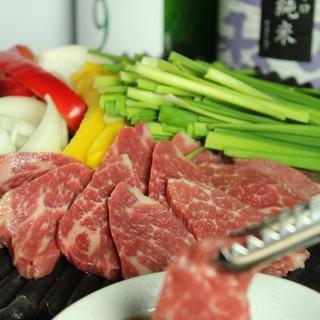 ③馬焼肉4種盛り1380円