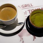 ランゲツ オブ トウキョウ - 抹茶ブリュレ、コーヒー