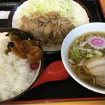 56685921 - 焼肉定食・ミニ中華そば 1000円