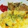 PEN CAFE - 料理写真:かぼちゃご飯とマヨチキン