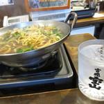 元祖博多麺もつ屋 - 焼酎との相性ばっちり