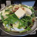 元祖博多麺もつ屋 - 麺もつ醤油味990円