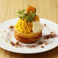 かぼちゃとクリームチーズムースのパンケーキ