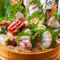 【北海道から毎朝直送♪】鮮魚5点盛り合わせ