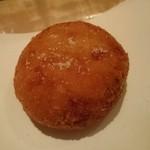 食堂 ニコラ - 里芋、オクラ、地鶏そぼろの入った塩コロッケ