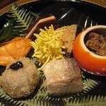 京懐石 美濃吉 - 前菜:季節の彩り七種盛り