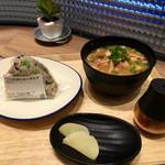 ダテ カフェ オーダー - 宮城風芋煮セット・選べる おにぎり1個