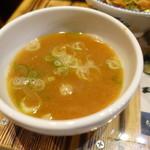 麺や 璃宮 - 16.9油そばの割スープ