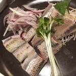 奈加山 - ランチに鰯の刺身定食 1,000円