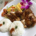 取手ハワイアン料理 マハロ - 私が食べた、チキンステーキ