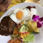 取手ハワイアン料理 マハロ - 息子が食べた、ロコモコ