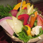 56820809 - 名物!!15種生野菜盛り