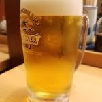 やよい軒  - 生ビール(270円)