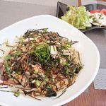 カフェ・ミュージックウェーブ - たっぷり野菜の和風スパゲティー 1,080円 1016/10