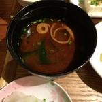 ほろほろ - ランチの味噌汁
