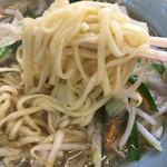 自慢亭 - 【28年10月】タンメンの麺のアップ