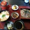そば処・梨郷 - 料理写真:ざる蕎麦・ミニカツ丼セット
