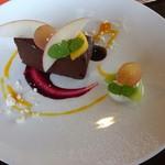 カフェ イ・ルンガ - ヴァナート社のチョコレートでお作りするガトーショコラ 650円