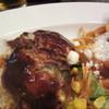 ひいき屋 - 料理写真:ハンバーグ 熱々状態で肉汁程々