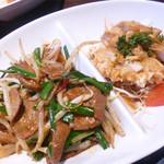 包龍 - 油淋鶏とニラレレバ