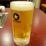 焼肉麻布 - 生ビール 中