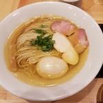 自家製麺 竜葵 - 塩そば+玉子
