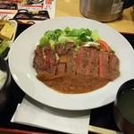 武乃蔵 - (2016年9月  訪問)和風おろしステーキ定食、1020円。