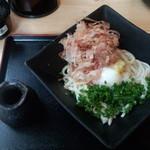 56870635 - ぶっかけうどん(500円)+月見(100円)+麺大(150円)