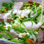 明神丸 - 鰹の燻製シーザーサラダ