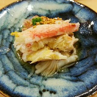 鮨 かんび - 料理写真:毛蟹と焼き茄子