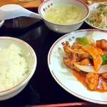 飲茶 居酒屋 香港亭 - 料理写真:日替りランチ 酢豚セット650円