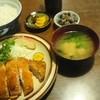 山彦 - 料理写真:とんかつ定食、定価980円、支払い970円