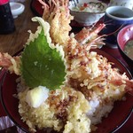 活魚問屋 海寶 - ボリュームスゴすぎっ(≧▽≦)えび天丼