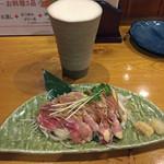 ゆりかご - 生ビールと赤鶏のたたき