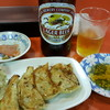 栄屋 - 料理写真:ビールと餃子セット