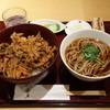 日本そば あけの蕎 - 料理写真:ランチセット(かき揚げ丼と蕎麦) 930円