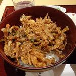 日本そば あけの蕎 - ランチセットのかき揚げ丼
