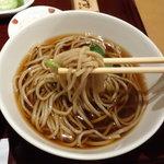 日本そば あけの蕎 - ランチセットの蕎麦