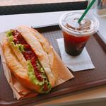 ケニーズハウスカフェ - サルサドック ドリンクセット¥800