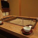 浅田屋 - こちらでまずはお茶を頂いてからお部屋へ