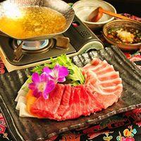 ◎今宵ちょっと贅沢な沖縄を味わうなら◎沖縄2大ブランド肉『石垣牛とあぐー豚のしゃぶしゃぶ』