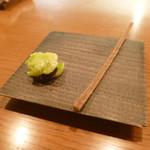 アノニム - 1品目は銀杏餅、香煎グリッシーニ