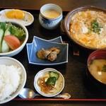 食事処はやし田 - カツとじ定食@1,080