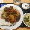 福臨門 - 料理写真:青菜と豚肉の醤油煮込み丼 ¥600-